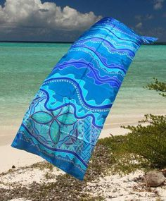 Not only is the print on this silk scarf amazing so is where they are hand painted – aboard the research vessel Moira in the worlds coral reef lagoon! They are the creation of New Caledonia artist Frederique Lesne and are made using the highest quality French silk and cost AUS$250.