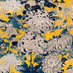 Mind the Gap Chrysanthemums Behang: Hier Verkrijgbaar WP20321 - Luxury By Nature Modern Wallpaper, Of Wallpaper, The Yellow Wallpaper, Floral Pattern Wallpaper, Amazing Wallpaper, Kitchen Wallpaper, Wallpaper Designs, Chinoiserie, Yellow Chrysanthemum