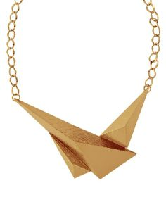 Trending gold geometric chic neckpieces best for evenings  via @Roposo