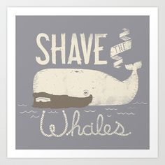 Shave the Whales Art Print by Muddybeats - $16.00 (don't know why I like this so much)