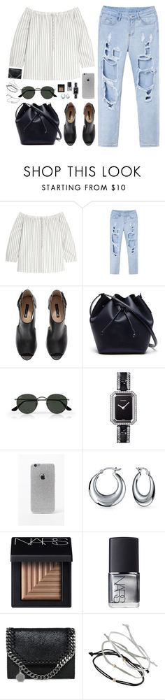 """""""#828"""" by bella2015 ❤ liked on Polyvore featuring Madewell, H&M, Lacoste, Ray-Ban, Chanel, LA: Hearts, Bling Jewelry, NARS Cosmetics, STELLA McCARTNEY and Topshop"""