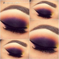 dark smokey eye, beautifull with orange