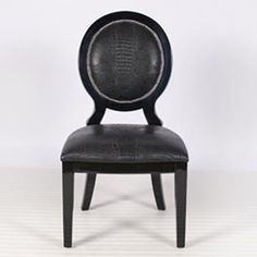 Overton Oval Dining Chair in Black, Set of Two