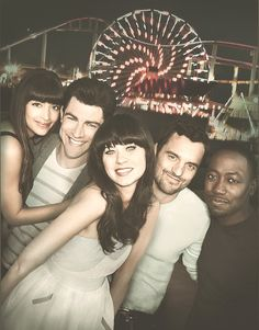 Zooey Deschanel in 'New Girl'...A sitcom that revolves around offbeat teacher Jess (Zooey Deschanel) after her moving into an L.A. loft with three men, played by Jake Johnson (Nick), Max Greenfield (Schmidt) and Lamorne Morris (Winston); Jess's best friend Cece (Hannah Simone) and old-turned-new loftmate Coach (Damon Wayans, Jr.) also appear regularly