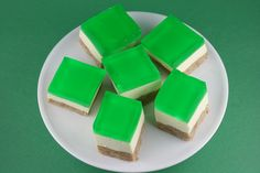 St. Patrick's Day Jello Cream Cake- one of the family's best kept secrets. It's light and fruity on top, then there's a layer of sweet cream in the middle, and a delicious moist crust on the bottom. SO good!