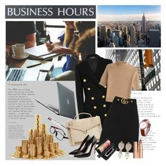 """""""Business Meeting"""" by beograd-love ❤ liked on Polyvore featuring Speck, U.S. Stamp & Sign, GlassesUSA, Balmain, FrenchTrotters, Theory, J.Lindeberg, Alexander McQueen, Gucci and Valentino"""