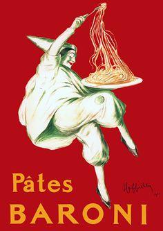 Pates Baroni by Cappiello Vintage Italian Pasta Kitchen Advertisements Posters Art Prints