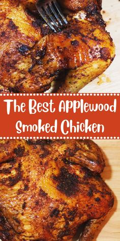 The Best Applewood Smoked Chicken - 10 CAPTAIN RECIPES Best Dinner Recipes, Lunch Recipes, Whole Food Recipes, Healthy Recipes, Healthy Food, Smoked Chicken Recipes, Grilled Chicken Recipes, Granny's Recipe, Thanksgiving Recipes
