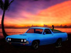 One of me fave Ranchero Pix - That sunrise was Deluxe! A Clean and Simple Ride - What more could your want? Get this Little Bewdy! You'll Be Glad You Have It! - Get it on Archival Paper - black matte - narrow black frame - Fab!   ~;0) VivaChas!