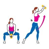 The golf squat is a great move to trim and tone your waistline. Try this (and two others!) to get rid of that annoying muffin top