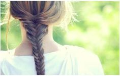 nothing like a simple fishtail braid to get you through your day!
