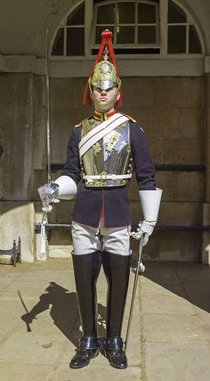 Household Cavalry - Trooper of the Blues and Royals Army Uniform, Men In Uniform, Military Uniforms, Queens Guard, British Uniforms, Honor Guard, Royal Guard, King And Country, Komplette Outfits
