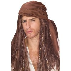 It's Capt. Jack Sparrow! You don't need to be Johnny Depp to become an authentic pirate with this awesome wig!  #Pirate #Costume #Wig