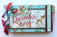 The Craftz Boutique: Christmas Mini Album - Under the Tree (October Afternoon) Christmas Mini Albums, Mini Christmas Tree, Christmas Scrapbook, A Christmas Story, Christmas Holidays, Xmas, Christmas Paper Crafts, Christmas Projects, Christmas Ideas