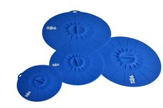 Premium Lily Pad Silicone Lid 4pc Set - 284 LIVING TM - Suction Lids Food Saver Container Covers - (Set of 4 sizes. Small 6', Medium 8 ¼', Large 10 ¼' and XLarge 11 ¾') (Royal Blue) -- Find out more about the great product at the image link.