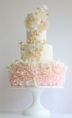 Browse the most creative and pretty wedding cake photosand designs for a…