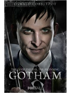 Fox, via Entertainment Weekly, has released the hi-res character posters for Gotham. The series explores James Gordon's early GCPD career as well as 'beginnings' of some notable Batman rogues. Gotham Movie, Gotham Tv Series, Drama Tv Series, Movies And Series, Gotham Batman, Im Batman, Gotham City, Movie Tv, Catwoman