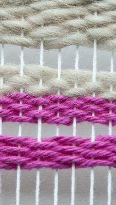 Weaving Techniques || Weft Facing Weave