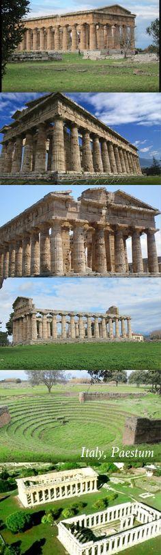 Templi greci di Paestum, vicino a Napoli