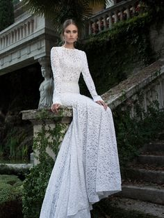 Wedding dress by Berta Bridal.