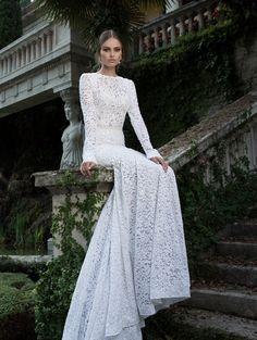 Wedding dress by Berta Bridal.
