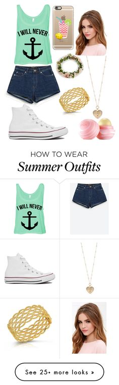 """""""Summer is coming!!"""" by tyanna955 on Polyvore featuring Zara, Converse, Casetify, Lulu*s, Betsey Johnson, Roberto Coin, Eos, women's clothing, women and female"""