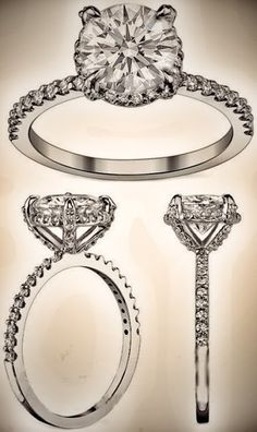 LOVE this but with a princess cut diamond! yes @Angie Wimberly Wimberly Murray ? ;)
