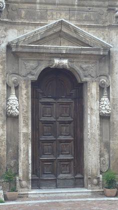Church door, Montepulciano Tuscany