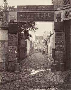 Banks of the Bièvre River at the Bottom of the Rue des Gobelins (Fifth Arrondissement), 1862