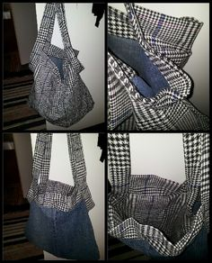 Reversable bag, recycled denim from old jeans