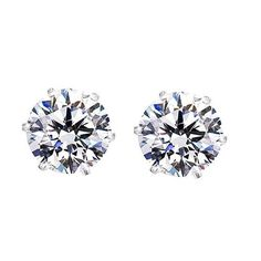 Amazon.com: Round Cut Clear CZ Stainless Steel Men Magnetic Stud Earrings No Piercing 7mm: Jewelry