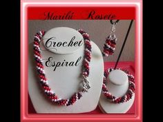 Tutorial Bisuteria Collar Puntada en Espiral - YouTube