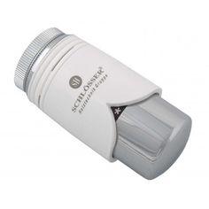 """Schlösser Thermostatkopf """"Brilliant"""" M28 x 1,5 Comap weiß/chrom 6004 00001"""