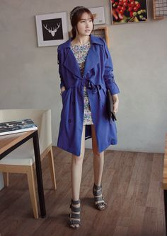Boxy Double Breasted Trench Coat