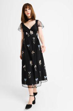 Sukienka midi w kwiaty   ORSAY