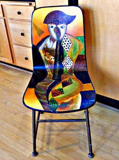 Picasso Inspired Art Chair in my Kitchen