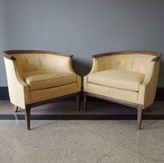Gorgeous Drexel Mid Century Upholstered Chairs by TwoGuysVintage, $800.00