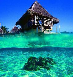 World's Most Beautiful Beach - Bora Bora. Begging my hubby to make this wish come true!