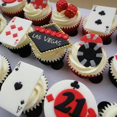 Vegas cupcakes... great for a casino night party!
