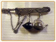 Antique Silver Chatelaine marked Prata EBERKOC by FineThingsShop