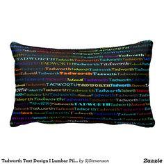 Tadworth Text Design I Lumbar Pillow