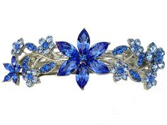 Faship Gorgeous Blue Crystal Barrette Prom -- You can get more details by clicking on the image.