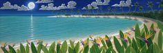 Birds In The Moonlight Mural - Dan Mackin  Murals Your Way