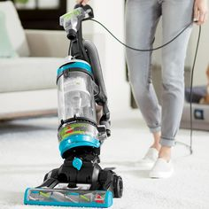 Give a whole new meaning to convenient cleaning with the BISSELL® CleanView® Swivel Rewind Pet Vacuum. It's lightweight and engineered with swivel steering, so it's easy to maneuver around your home. It comes with specialized pet tools that make the switch from vacuum cleaning your floors to vacuum cleaning above floor spots easy. The tools are great for cleaning blinds, upholstery and other places that easily attract cat hair, dog hair, dust, and other debris. This vacuum cleaner has Multi-Cycl Best Pet Hair Vacuum, Pet Vacuum, Cleaning Blinds, Pet Hair Removal, Low Pile Carpet, Cat Hair, Pet Beds, Floors, Upholstery