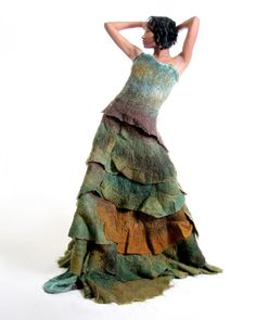 felted dress, Horst Couture Design - These colors are dreamy