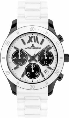 Jacques Lemans Women's 1-1587P Rome Sports Sport Analog Chronograph with Silicone Strap Watch Jacques Lemans. $114.99. Chronograph watch, stainless steel case. Water-resistant to 100 m (330 feet). Hardened crystex crystal. Quartz movement. Case diameter: 44 mm. Save 47%!
