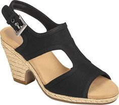 Aerosoles Womens Birdhouse Dress Sandal Black Fabric 6 M US ** Check this awesome product by going to the link at the image.