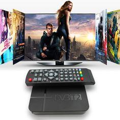 Dijital DVB-T2 Alıcı DVB-T STB TV Kutusu HD 1080 P K2 Video karasal MPEG4 PVR Alıcısı + Uzaktan Kumanda + AV Kablosu Destek 3D