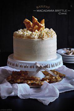 BAILEYS® Macadamia Brittle Cake | urbanbakes.com