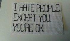 Je déteste tout le monde, sauf toi.